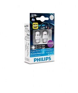 Philips T10 LED 12799 6000K 12V0,9W W2,1x9,5d X2