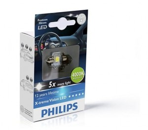 Philips Fest 14x30 LED 12940 4000K 12V1W SV8,5 X1