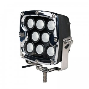 Driving light - side bracket - square chrome, CREE 80W 7""