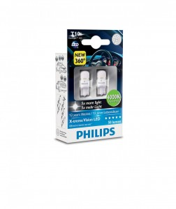Philips T10 LED 12799 4000K 12V0,9W W2,1x9,5d X2